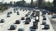 Stock Video Footage of WS, Lockdown, busy freeway, Los Angeles, California, USA