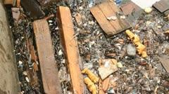 Flotsom Waste Rubbish In Water HD Stock Footage