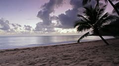WS Lockdown View of a beach and the sea at dusk Stock Footage