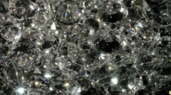 CU, Lockdown, a pile of diamonds slowly rotating around Stock Footage