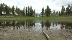 a low pond in the high sierras - stock footage