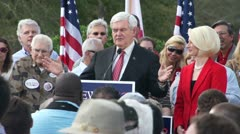 Newt Gingrich On The First Three Thing He Would Do As President Stock Footage