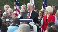 Stock Video Footage of 05 Newt Gingrich On The First Three Thing He Would Do As President