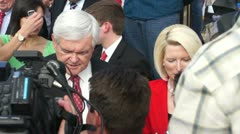 New Gingrich Greets Voters Stock Footage