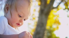Portrait in Close up of Baby Stock Footage