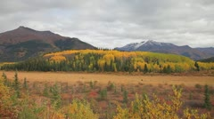 Mountains in the Fall Pan Stock Footage