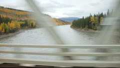 Driving Over a River Stock Footage