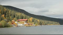 Lodge on Lake - stock footage