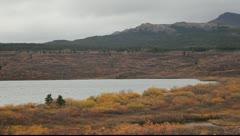Lake and Mountain Pan Stock Footage