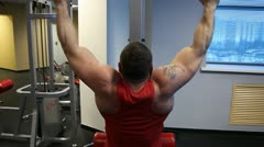 Man in a gym Stock Footage