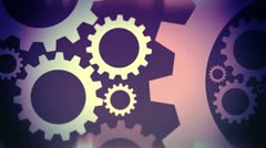 Abstract gear industry 7 Stock Footage