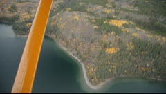 Lake Shore From Plane Stock Footage