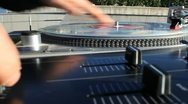 Stock Video Footage of Turntable