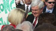 Stock Video Footage of 17 Newt Gingrich Greets Voters