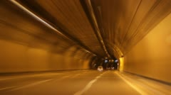 Tunnel highway timelapse - stock footage