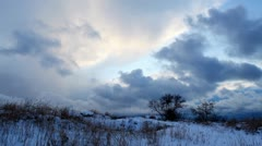 Sunrise in winter (Time Lapse) Stock Footage