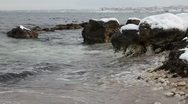 Stock Video Footage of Sea Shore in the winter