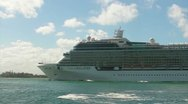 Stock Video Footage of cruise ship enters San Juan Harbor 2