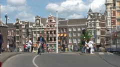 Amsterdam Cyclists Stock Footage