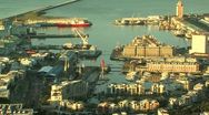 Stock Video Footage of view of cape town waterfront from above