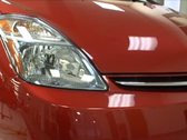 Front Logo and Headlight of Hybrid Stock Footage