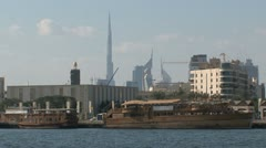 Dubai traditional harbor Stock Footage