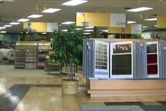 Stock Video Footage of Flooring Store