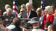Stock Video Footage of 04 Newt Gingrich Gets Heckled As He Talks About Healthcare