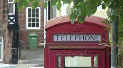 Red Telephone Box - stock footage
