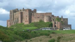 Bamburgh Castle in England Stock Footage