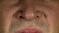Male face, nose 3 Stock Footage
