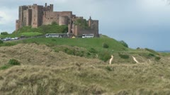 Bamburgh Castle Stock Footage