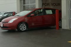 Hybrid Exiting Show Room Stock Footage