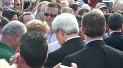 Newt Gingrich Greets Voters Stock Footage