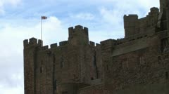 Bamburgh Castle in Northumberland Stock Footage