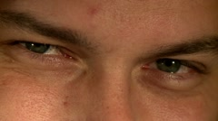 Male face, eyes 9 Stock Footage