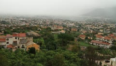Pan shot of Panoramic view of Palermo village in Sicily - stock footage