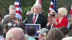 Newt Gingrich On Job Creation Stock Footage