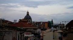 Landscape of Palermo city at sunset Stock Footage