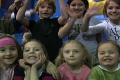 Kids Waving to Camera - stock footage