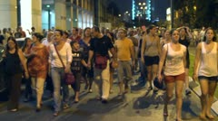 Tel Aviv protest street crowd 5 Stock Footage