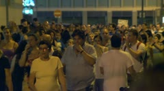Tel Aviv demonstration street crowd 6 Stock Footage