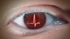 Eye Of Heartbeat Stock Footage