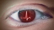 Eye Of Heartbeat Stock Footage