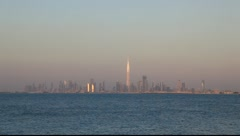 Stock Video Footage of Skyline of Dubai, United Arab Emirates