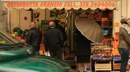 People buying fruits and vegetable in Italy Stock Footage