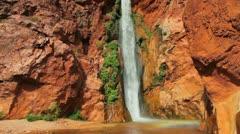 Desert waterfall Stock Footage