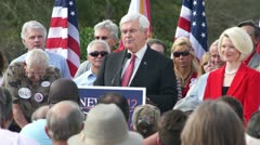 Newt Gingrich On Winning The Nomination Stock Footage