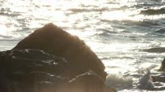 Waves between marine rocks Stock Footage