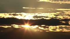Beautiful sunset - timelapse - stock footage